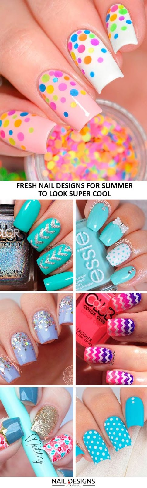 21 Lovely Nail Designs for Summer 2017