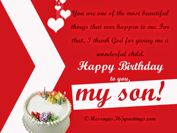 Birthday Wishes Card For Your Son
