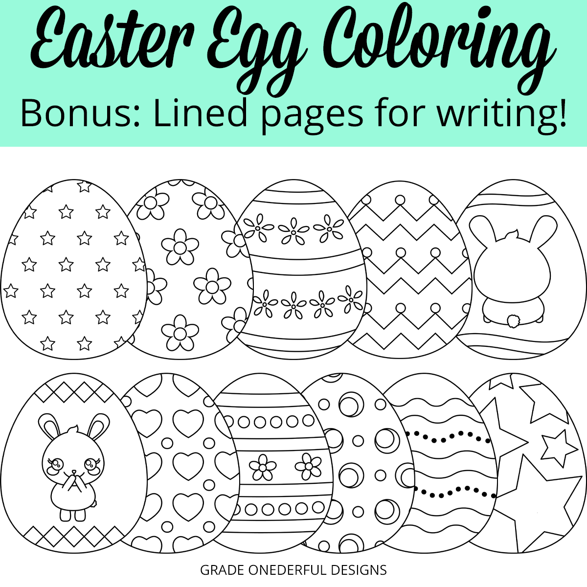 Easter Egg shaped writing papers. Perfect for the primary grades.