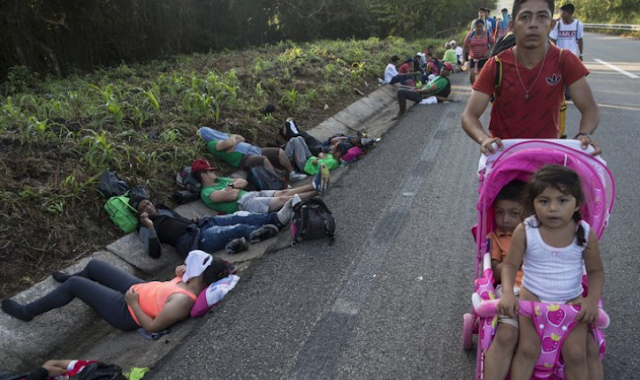 In migrant caravan, weary parents cite kids as motivation