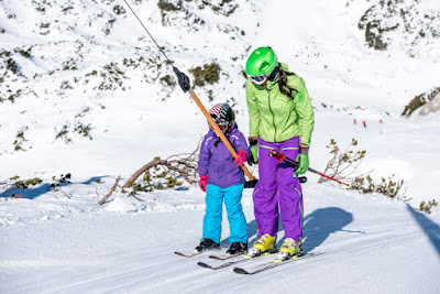 T-bar rope tow ski lift