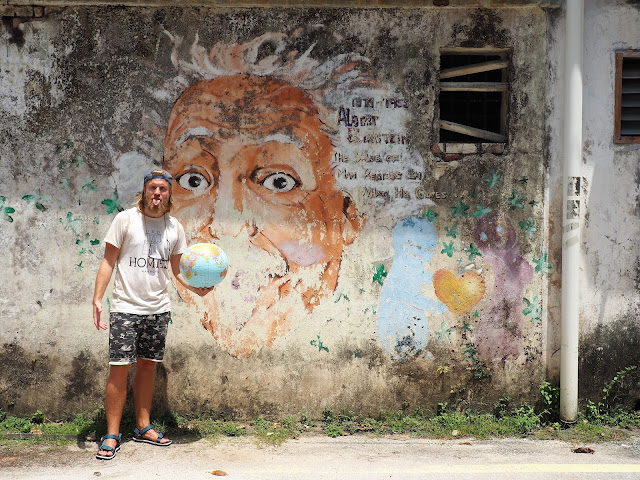 Street Art in Ipoh - Albert Einstein