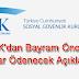 SGK'dan Bayram Öncesi Maaşlar Ödenecek Açıklaması