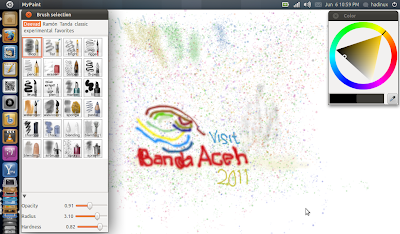 Hadinux Blog: MyPaint : Membuat Lukisan Di Canvas Digital