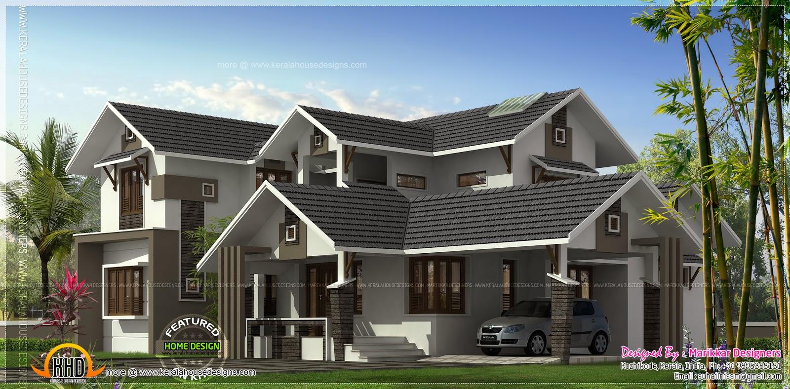 4 Bedroom Sloping Roof Villa