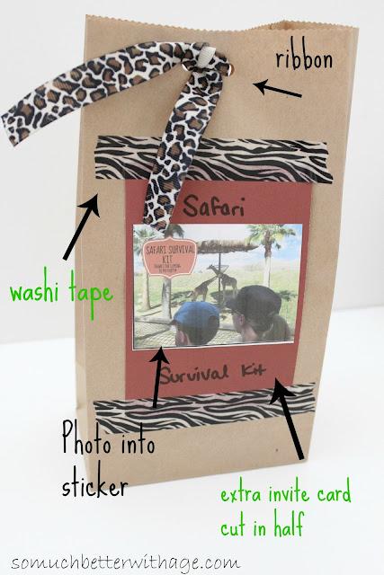 Safari treat bags www.somuchbetterwithage.com