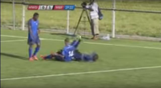 فيديو صادم،،وفاة لاعب تنزاني،إحراز الهدف