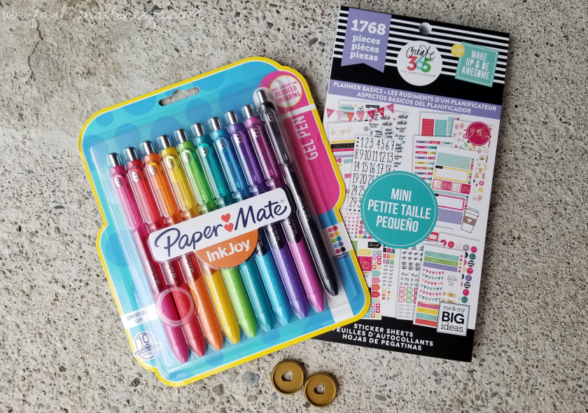 bbloggers, bbloggersca, canadian beauty bloggers, beauty blog, lbloggers, what i got for christmas, gifts, holiday, 2017, papermate, inkjoy, happy planner, mini happy planner, discs, create 365, planner basics, sticker book, michaels