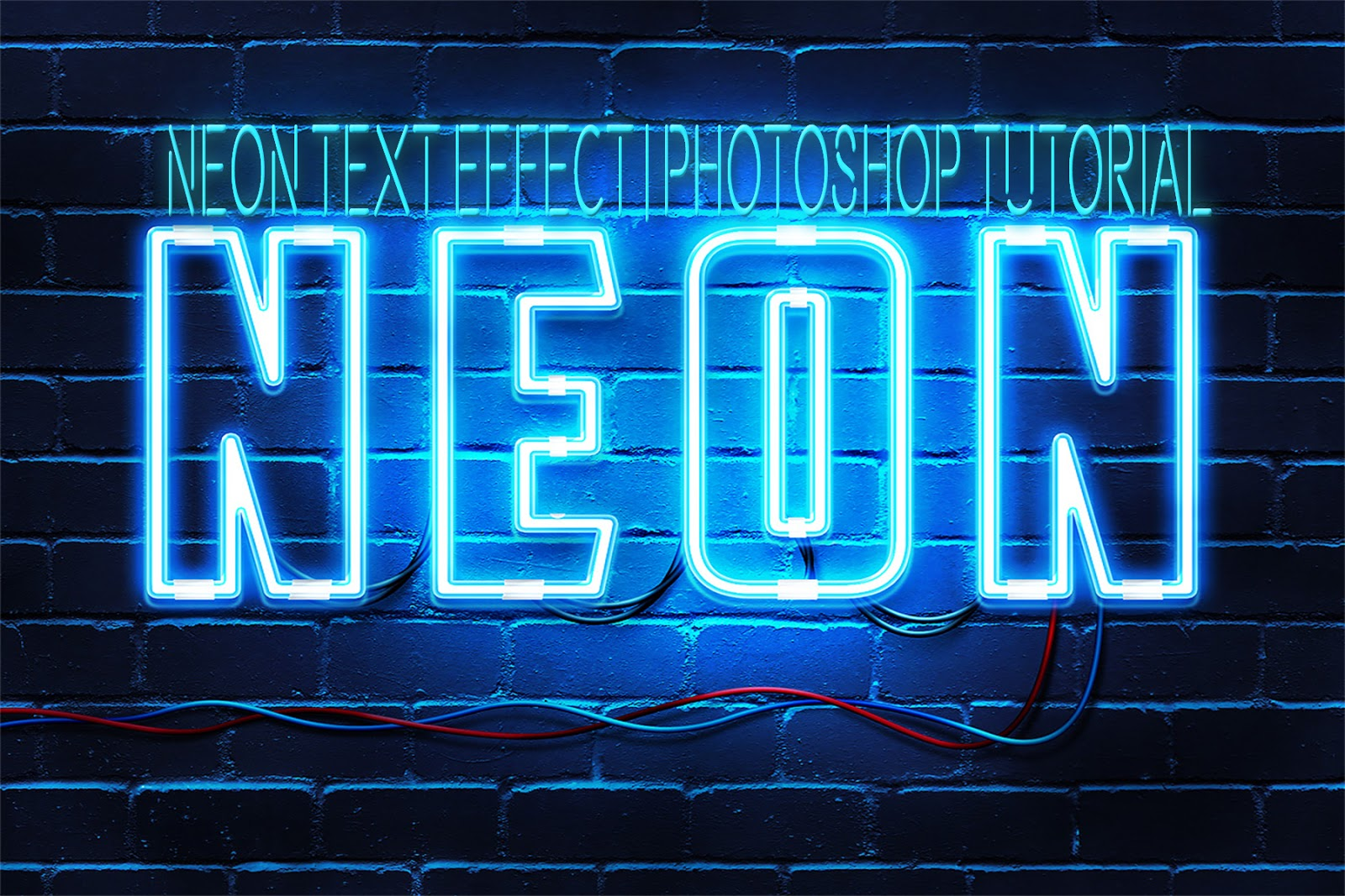 NEON TEXT Effect | Photoshop Tutorial - PIXEL BUCKETZ