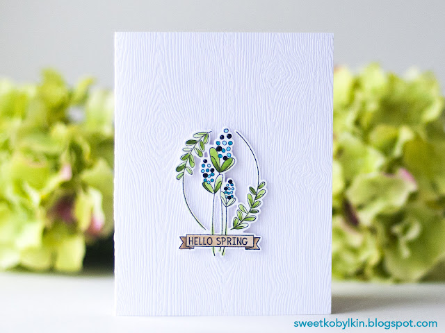 Video Tutorial on Colored Spring Card