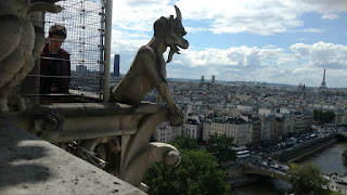 Gorgoyle looks over Paris