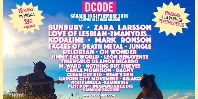 DCODE, 2016, Madrid, Cartel, Festival