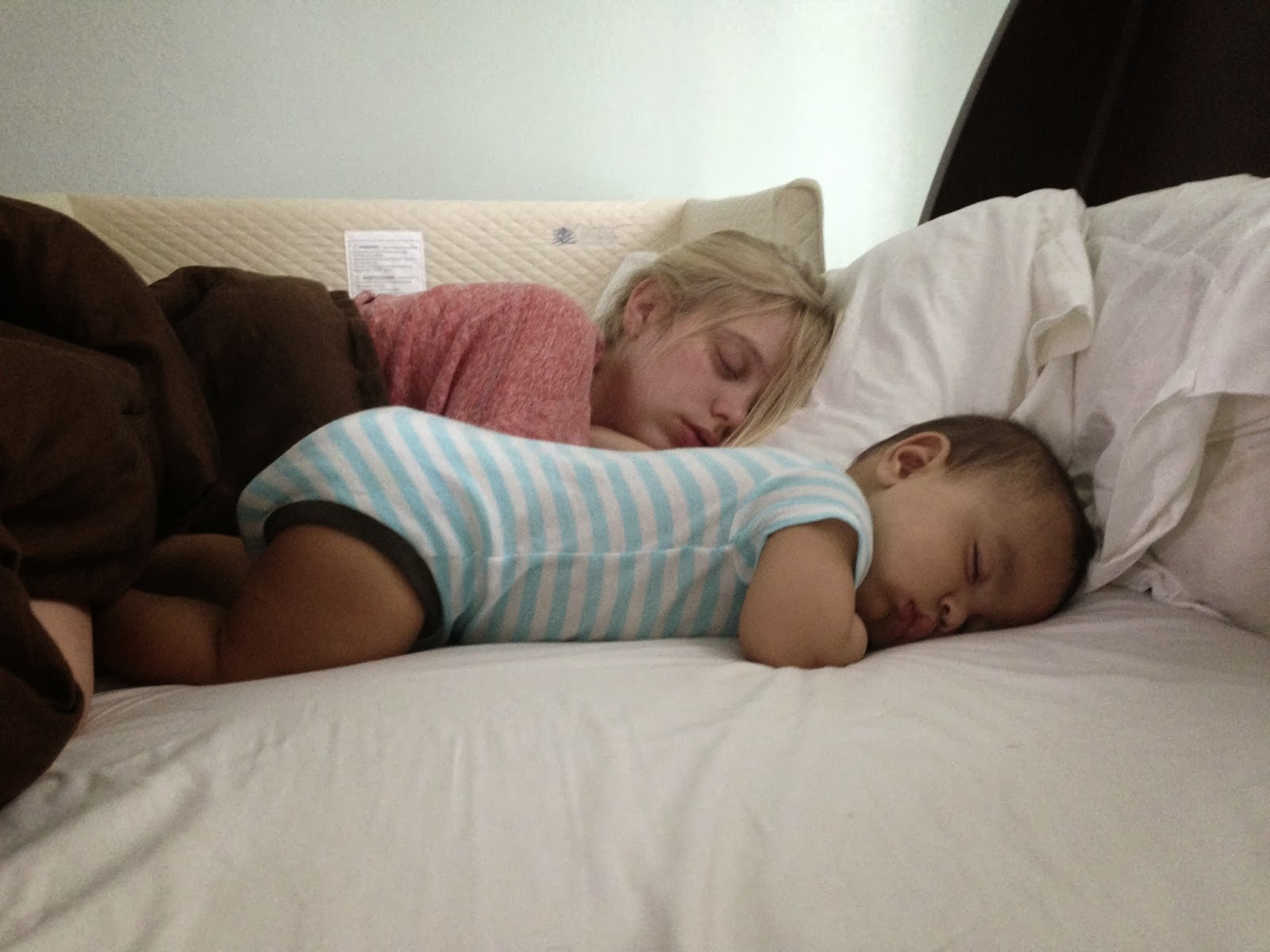 My Sleeping Wife and Baby: Tummy Time