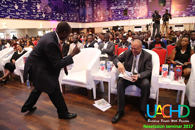Prof. Soludo, Prof Utomi, Uche Ahubelem, others at the Resetssion seminar organized by UACHD