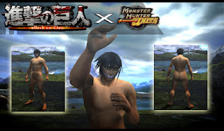 blockir iklan sebelum mendownload agar tidak terjadi error saat mendownloadnya Download Mod Texture Male Cloth [Titan Rogue SNK] MHFU For Emulator PPSSPP