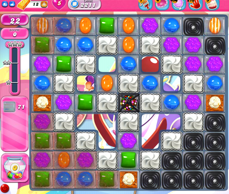 Candy Crush Saga level 2211