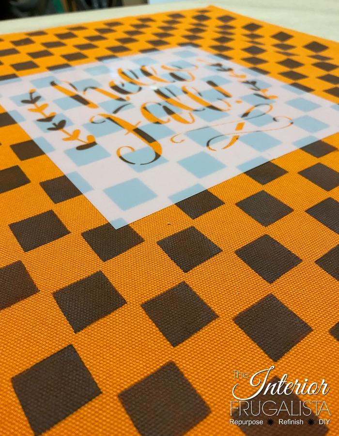 DIY Hello Fall Checkered Pillows