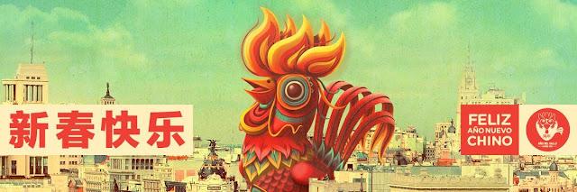 Banner año nuevo chino en Madrid