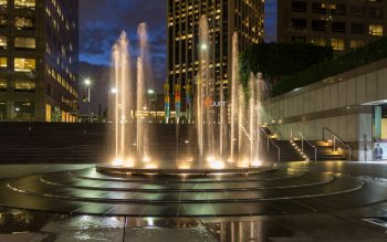 Wallpaper: Fountain in Downtown, Los Angeles