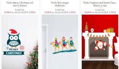 Vinilos de los Reyes Magos y Papa Noel
