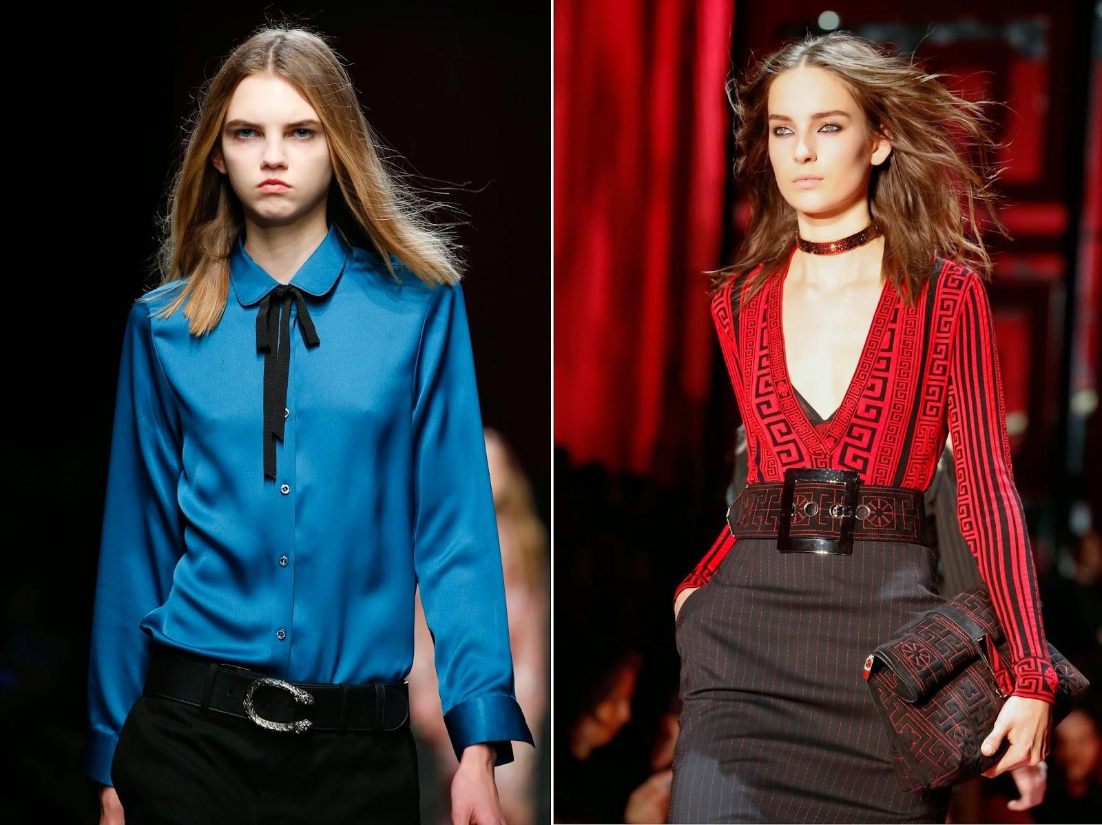 9a5e1f965d4e1 Modelos das passarelas das grifes italianas Gucci e Versace   Imagens   Reprodução