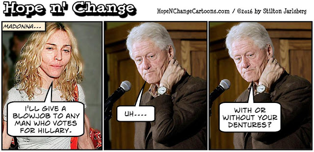 obama, obama jokes, political, humor, cartoon, conservative, hope n' change, hope and change, stilton jarlsberg, madonna, oral sex, election, clinton, blowjob