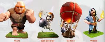 Tier 2 : Barbarian, Ballon, Wall Breaker, Wizard