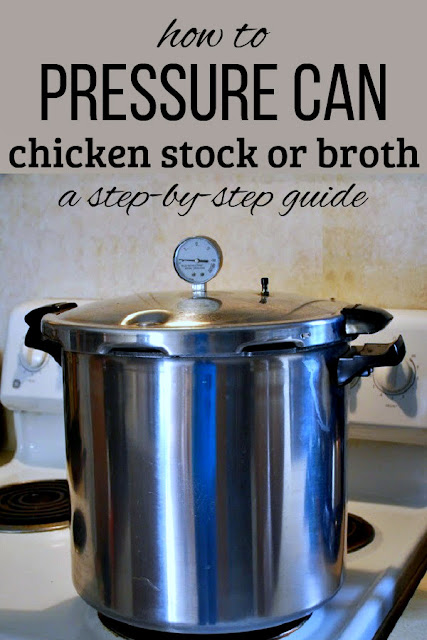 How to pressure can chicken broth or stock, a step-by-step guide.