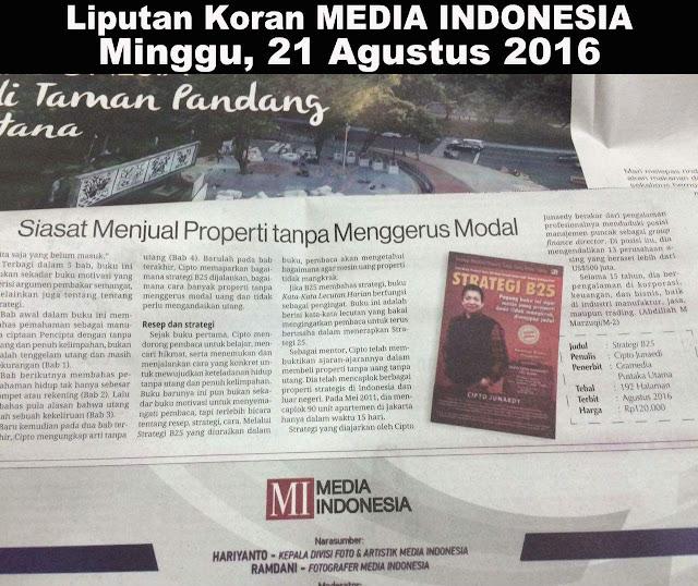 Liputan Koran Media Indonesia 21 Agustus 2016