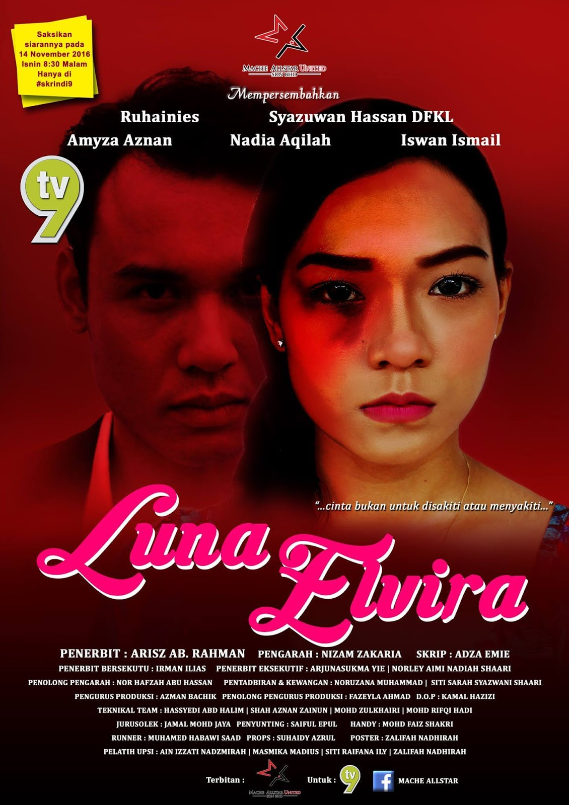 Sinopsis Telemovie Luna Elvira (TV9)