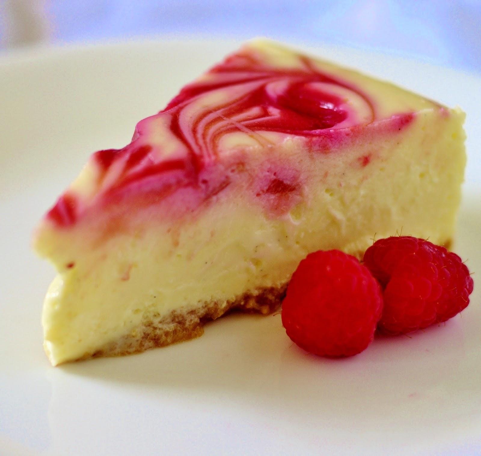Sage Trifle Raspberry Swirl Cheesecake