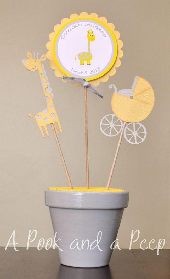 centros de mesa para baby shower de niño