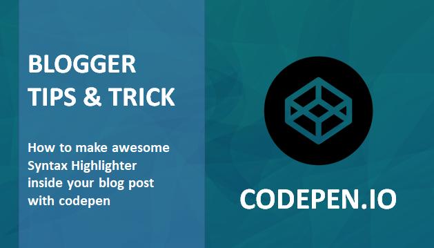 Cara Mudah Pasang Editor Script keren di Blogger dengan