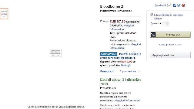 Bloodborne II es listado en Amazon