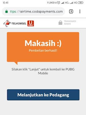 Cara mudah Top Up UC Cash PUBG Mobile dengan Pulsa Semua Operator