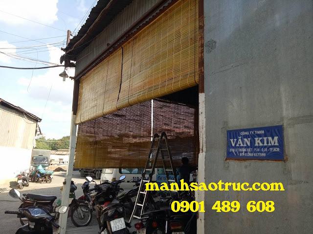Lắp mành sáo nứa cho nhà xưởng công ty Văn Kim