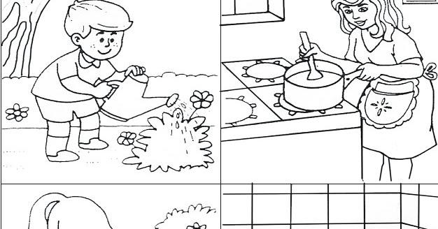 Dibujos Para Colorear Del Agua Para Ninos: El Agua: Utilidades Del Agua