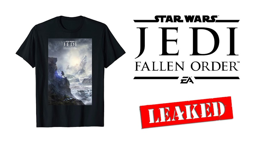 star wars jedi fallen order art leak amazon t shirt