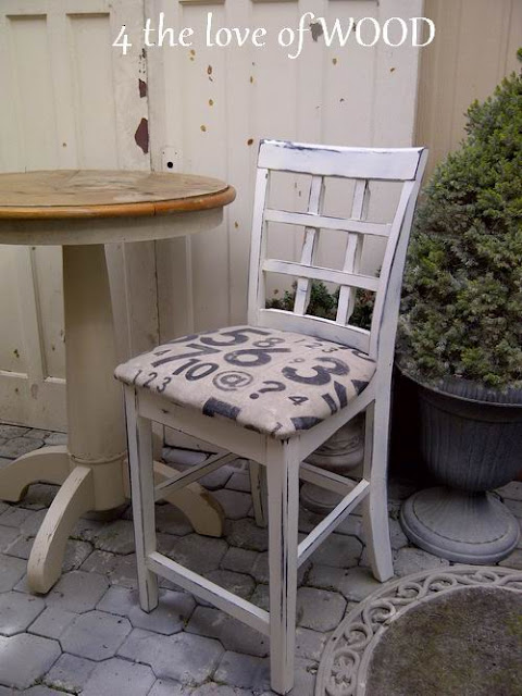 For the Love of Wood, bar stool make-over