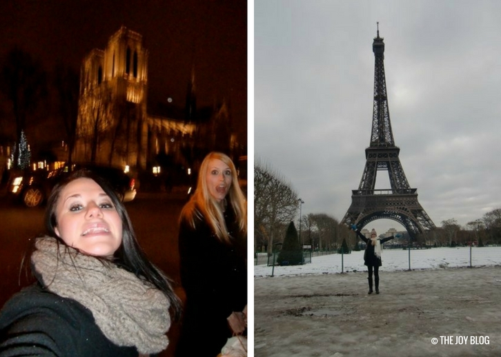 At the end of a long walk near Notre Dame & Eiffel Tower | That One Time I Went to Paris // WWW.THEJOYBLOG.NET