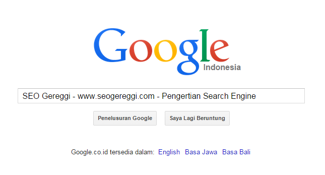 Pengertian Search Engine Mesin Pencari