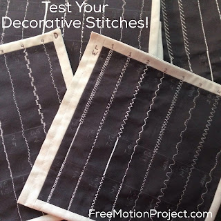 How to test decorative sewing machine stitches