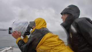 Gabriela Cowperthwaite Blackfish director with cameraman Jonathan Ingalls Chris Towey