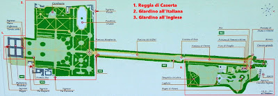 Mappa Reggia di Caserta e Parco