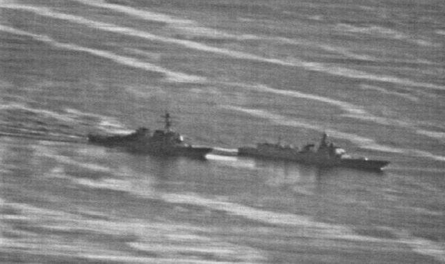 Hình ảnh ghi lại cảnh tàu Trung Quốc