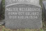 Grabstein Walter Wesendonck - Green-Wood Cemetery