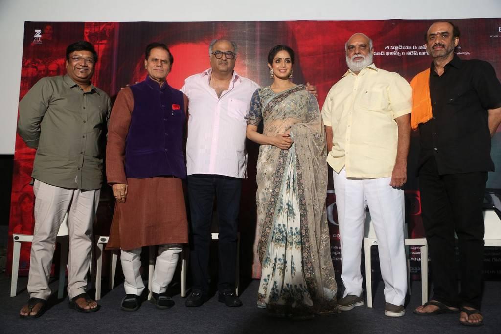 Sridevi at MOM Movie Trailer Launch Stills