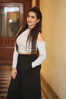 Manjusha in sleevelss crop top and black skirt at Darshakudu pre release ~  Exclusive Celebrities Galleries 105.JPG