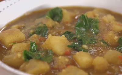 Ensopado de Batata-Doce com Couve (vegana)