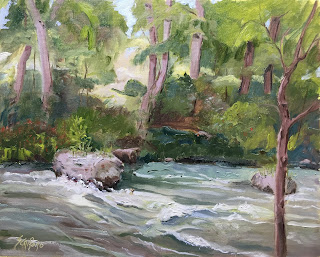 plein air niagara, rushing water